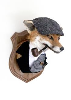 Anthropomorphic Taxidermy chap Fox by Lucia Mocnay