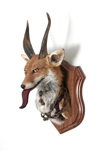 Anthropomorphic Taxidermy Art Fox Krampus by Lucia Mocnay