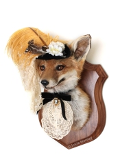 Anthropomorphic Taxidermy Art Lady Fox by Lucia Mocnay