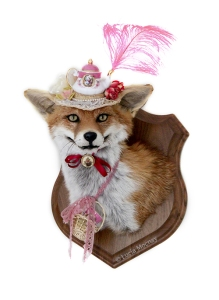 Anthropomorphic Taxidermy Art Fox Lady by Lucia Mocnay