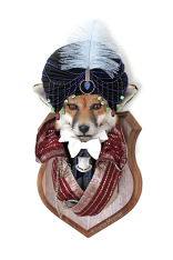 Anthropomorphic Taxidermy Art Fox Mystic by Lucia Mocnay